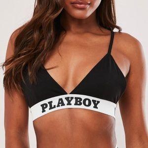 Playboy x Missguided Black Triangle Bralette